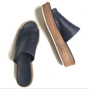 VINCE Saskia Platform Wedge Sandal, Blue Marine